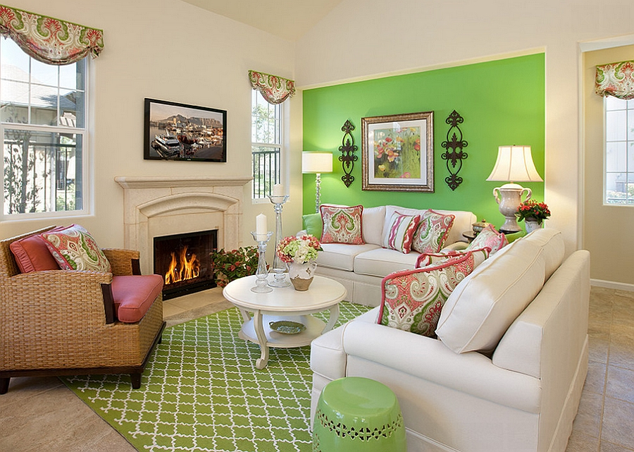 Perfect 25 Green Living Rooms And Ideas To Match Part 24