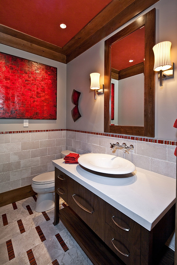 21 Sensational Bathrooms With The Ravishing Flair Of Red