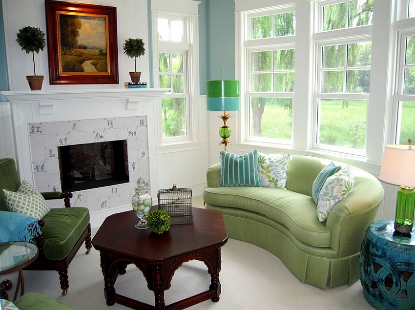 25 Green Living Rooms And Ideas To Match Part 41