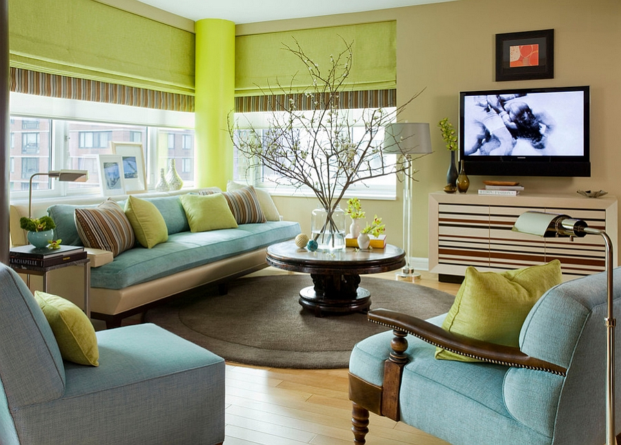 25 Green Living Rooms And Ideas To Match Part 58