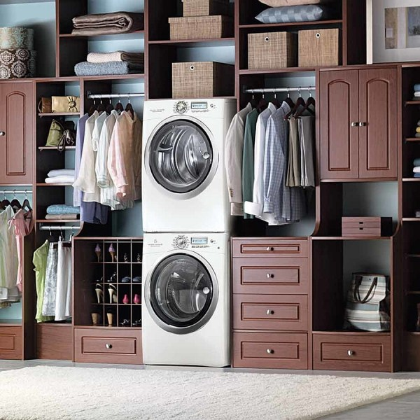 Laundry Room Design Large Master Bedroom Laundry Room in Closet