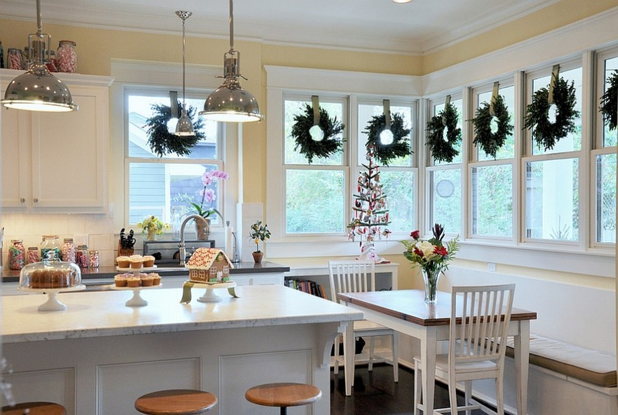 Christmas Decorating Ideas That Add Festive Charm to Your Kitchen     Elegant Christmas kitchen decor  Design  2Scale Architects