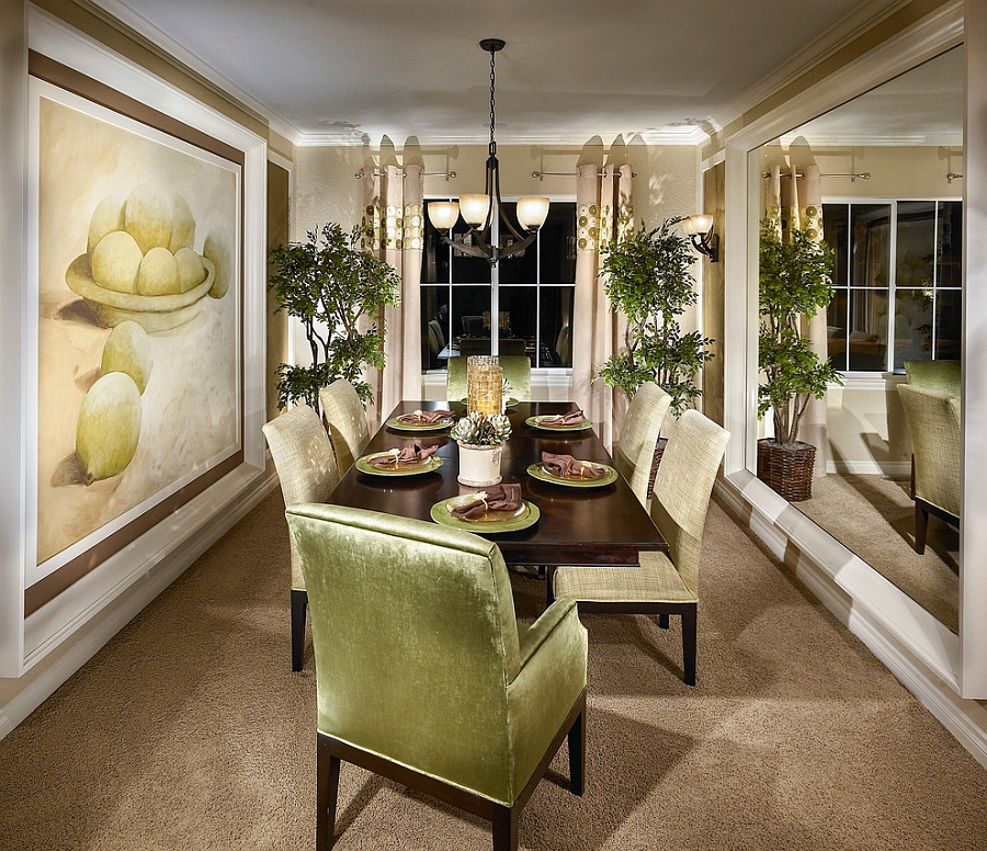 How to Use Green to Create a Fabulous Dining Room View in gallery Fabulous use of green in the elegant dining room  Design   Lita Dirks   Co