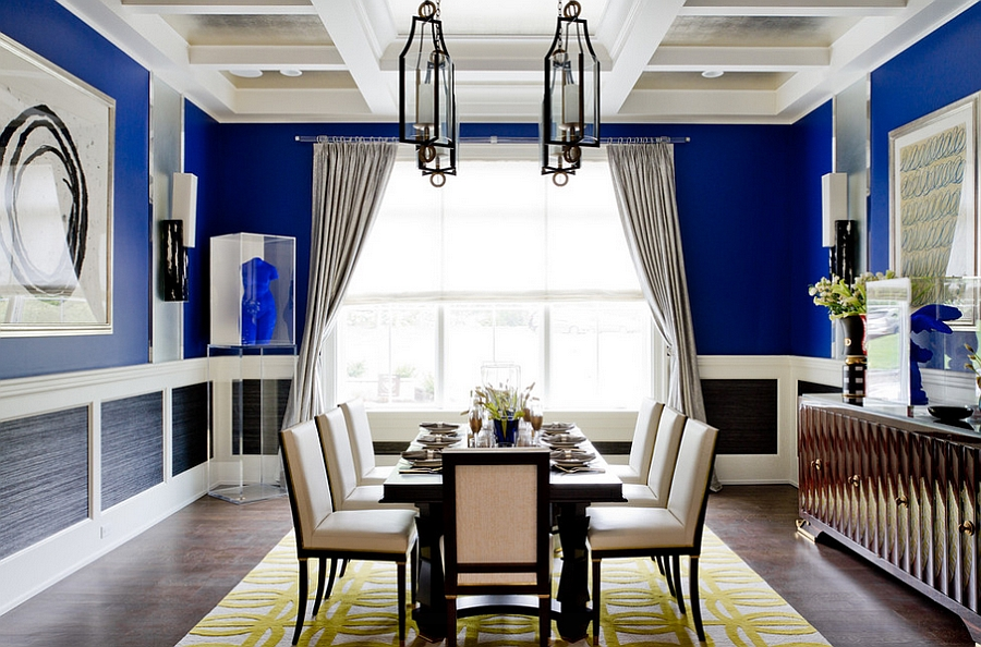 Yellow And Blue Dining Room
