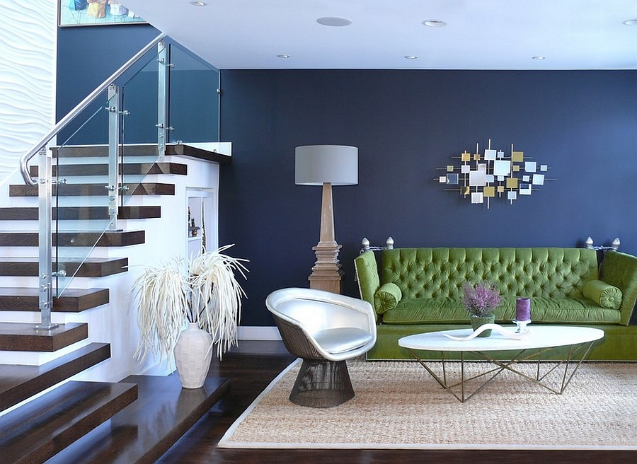 Living Room Ideas Dark Green Couch Design