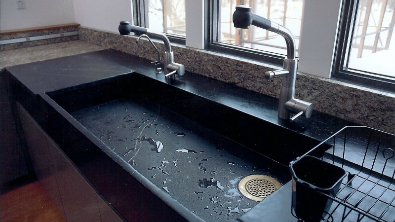 incredible kitchen sinks made from rock