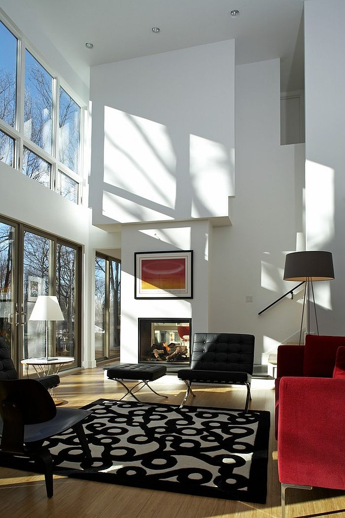 how to decorate a home with high ceilings