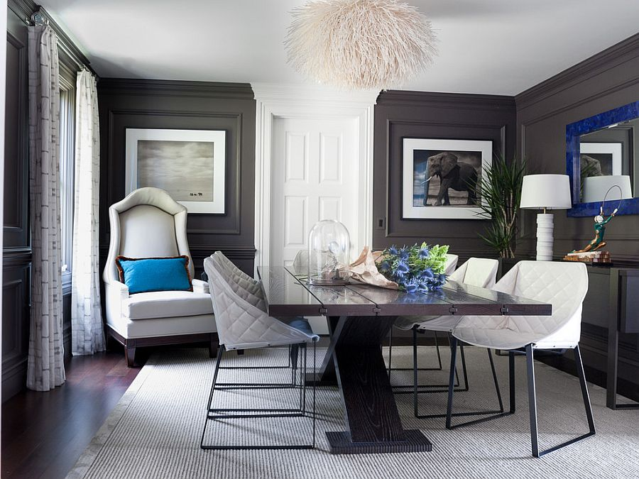 Grey And Cream Accent Chair