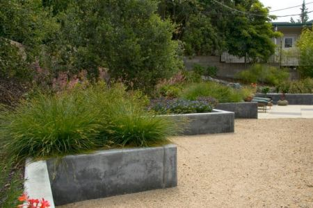 Garden Landscaping Ideas for Borders and Edges View in gallery Custom concrete wall by Jeffrey Gordon Smith Landscape  Architecture