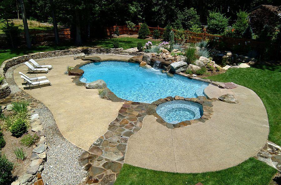 23 fabulous concrete pool deck ideas