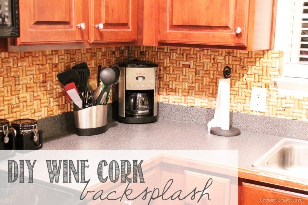 Kitchen Backsplash Ideas Wine Cork Backsplash