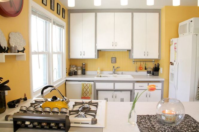 Contemporary Yellow Kitchen Image Source Home Decor Ideas