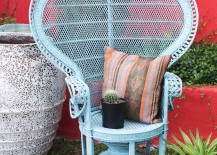 DIY Peacock Chair Ideas     are putting a unique spin on these seating statements with vibrant  paint and other embellishments  Read on for 12 fabulous peacock chair  makeovers