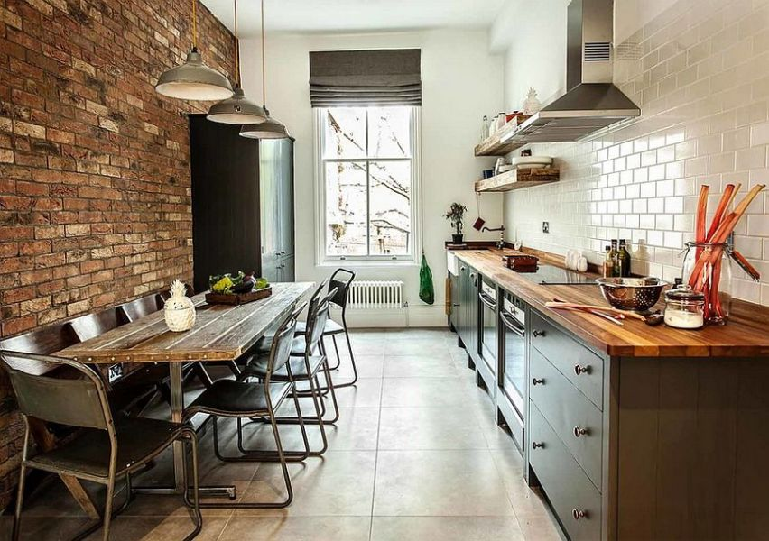 100 Awesome Industrial Kitchen Ideas     Small kitchen with an industrial chic style  Design  British Standard