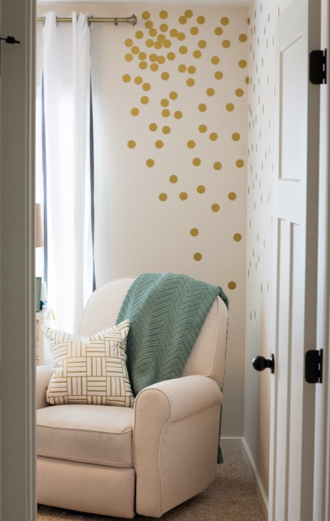 Polka Dot Wall Decals Gold Decal Removable