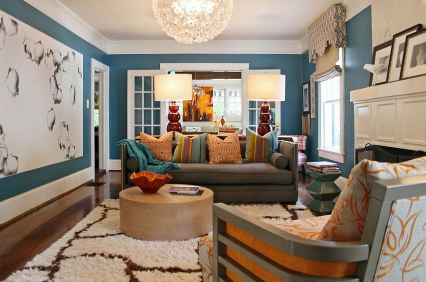 50 Eclectic Living Rooms for a Delightfully Creative Home     Stylish eclectic living room with contemporary flair  Design  Lucy and  Company