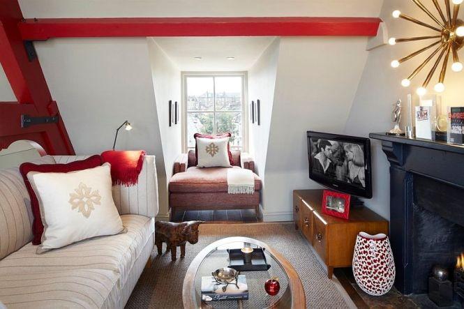 View In Gallery Beautiful Tv Room Idea For The Small Attic E Design Naomi Astley Clarke