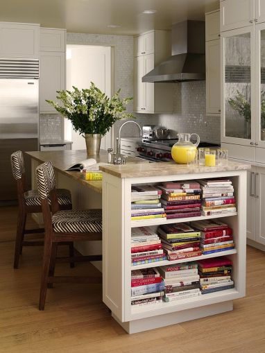 Trendy Display  50 Kitchen Islands with Open Shelving     Convenient placement of the open shelves in the kitchen  Design  Tara  Seawright