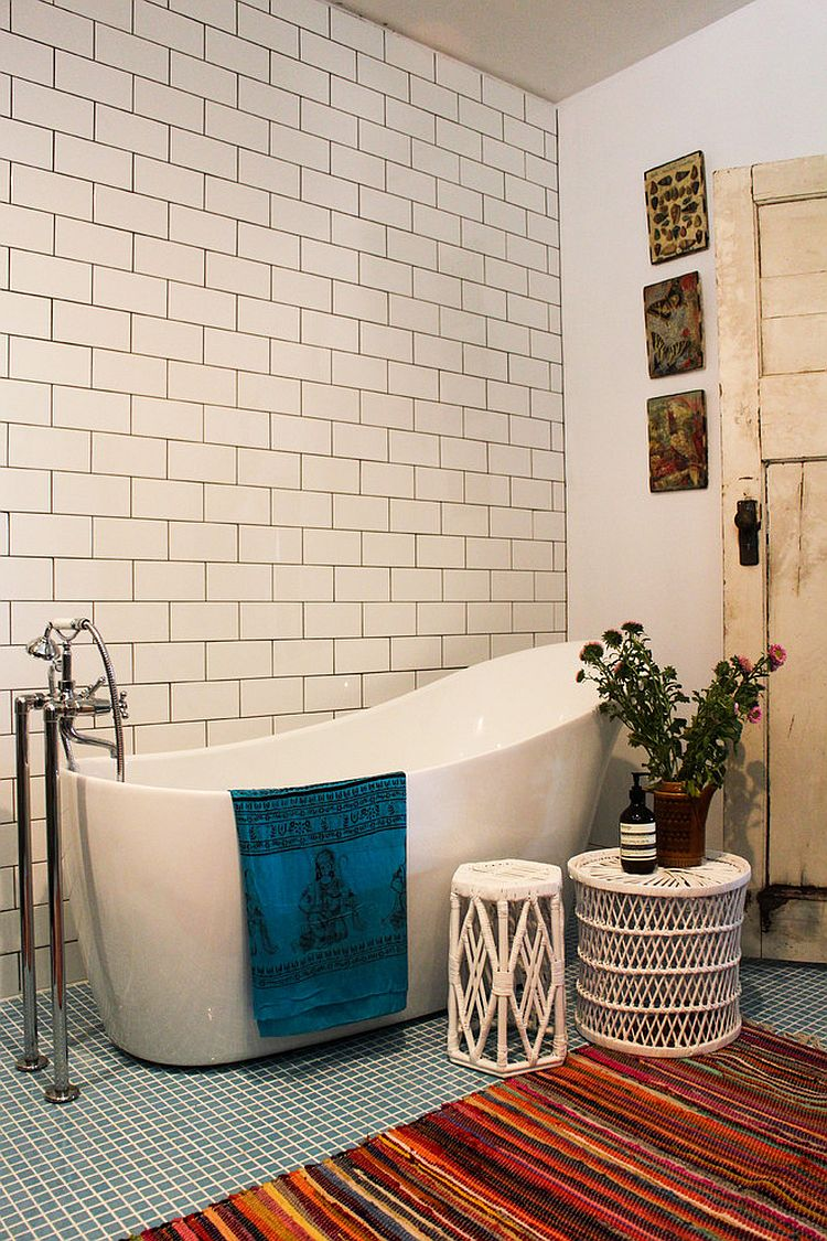 Little Luxury 30 Bathrooms That Delight With A Side Table
