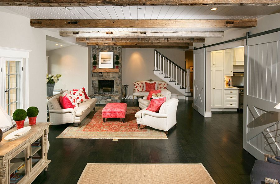 25 Ingenious Living Rooms That Showcase The Beauty Of Sliding Barn. Sliding  Door Separate The Living Room ... Part 29