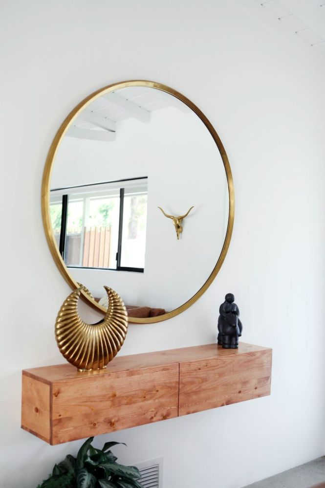 Kasbah Teardrop Br Wall Mirror