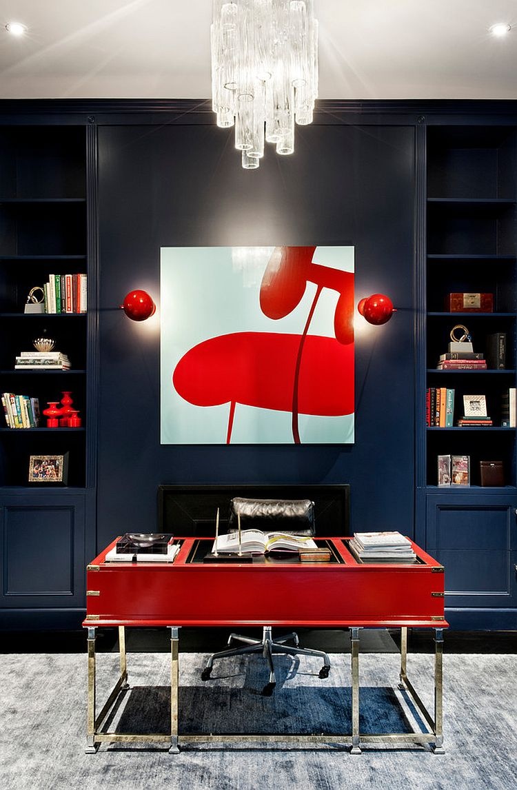 20 Home Offices That Turn To Red For Energy And Excitement
