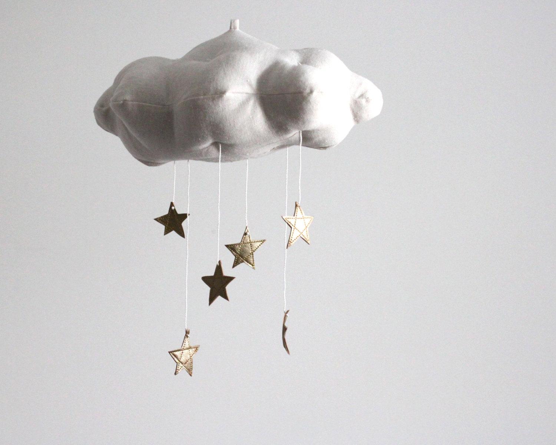 Clouds Stars Sun And Moon Celestial Nursery Motifs