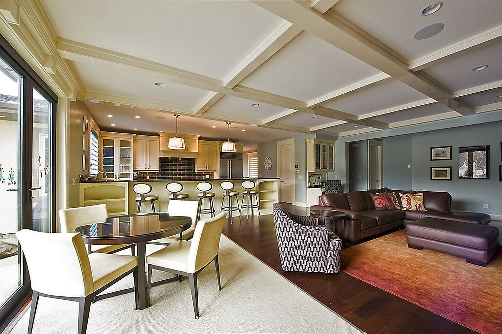 Try Out A Simple Change Of Color For Differentes In The Open Floor Plan