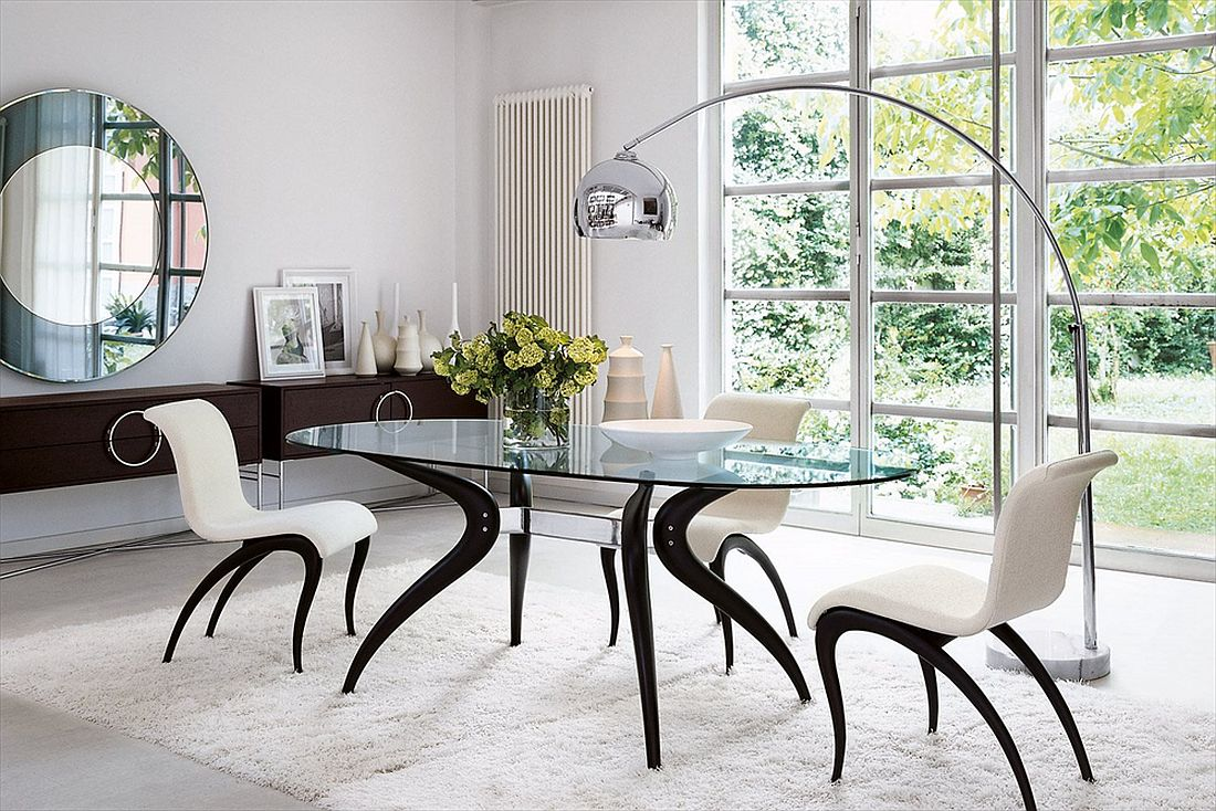 Dashing Duo Trendy New Dining Tables Usher In Geometric