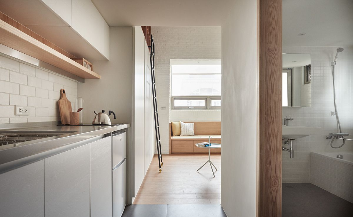 Going Vertical Tiny 22 Sqm Apartment Maximizes Space In Style