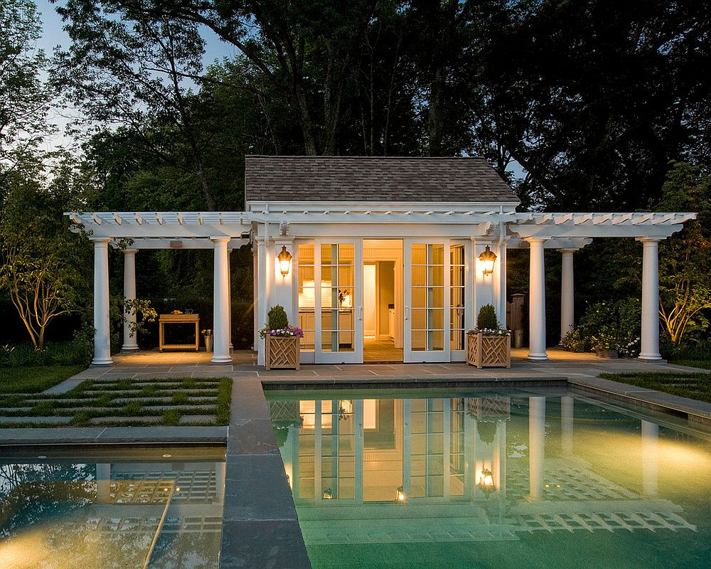 Best Kitchen Gallery: 25 Pool Houses To Plete Your Dream Backyard Retreat of House Plans With Pool House on rachelxblog.com