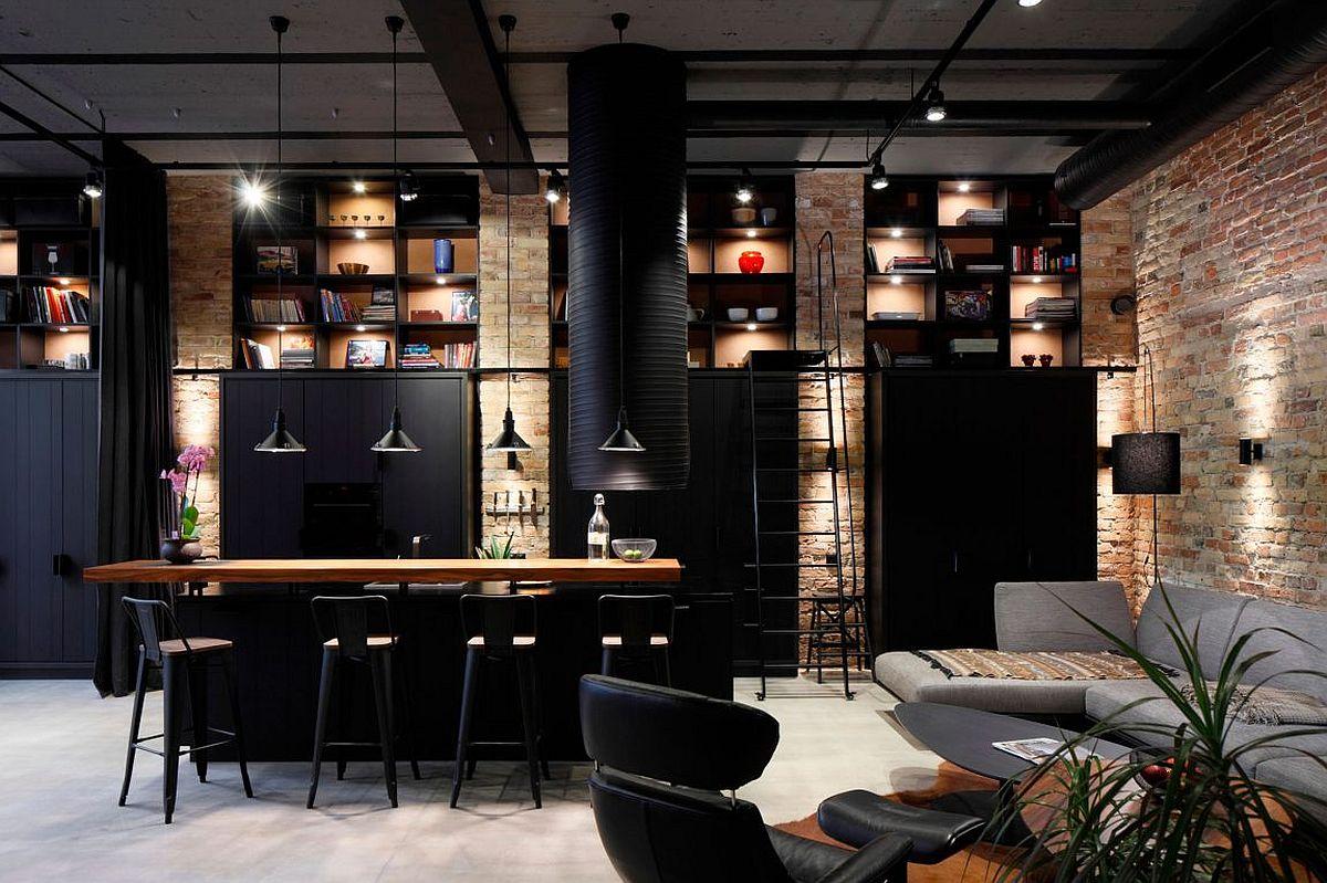 Apartment Uv Goes Modern Industrial Using Exposed Metal