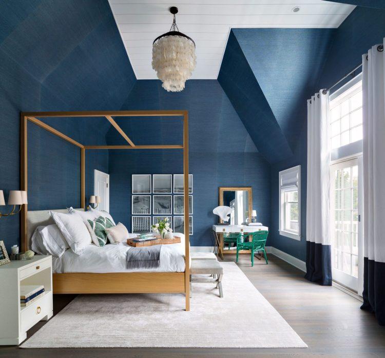 Moody Interior Breathtaking Bedrooms In Shades Of Blue