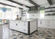 10 Hexagonal Tiles Ideas for Kitchen Backsplash  Floor and More Hexagonal tiles obviously come in a wide range of hues and also can be used  to usher in pattern without breaking the color scheme of your contemporary