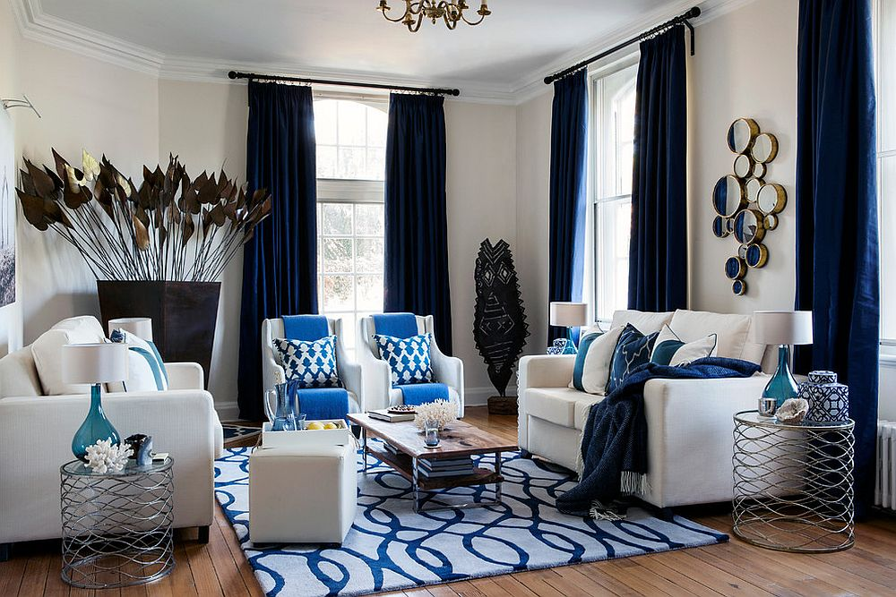 15 blue drapes and curtain ideas for a