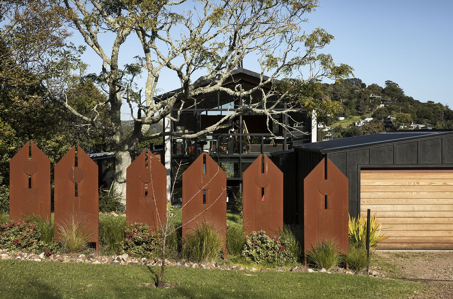 Anzac Bay House Inspired By The Village Square With A Church