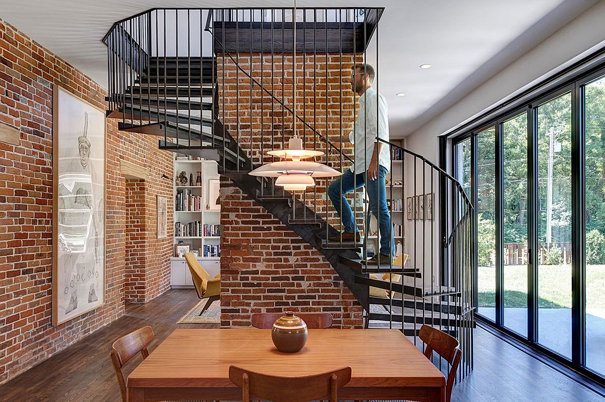 Brick Walls And Spiral Staircase Steal The Show At Foster Road Retreat