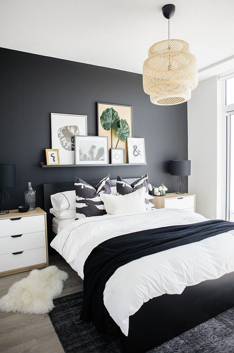 Dark And Dramatic Give Your Bedroom A Glam Makeover With