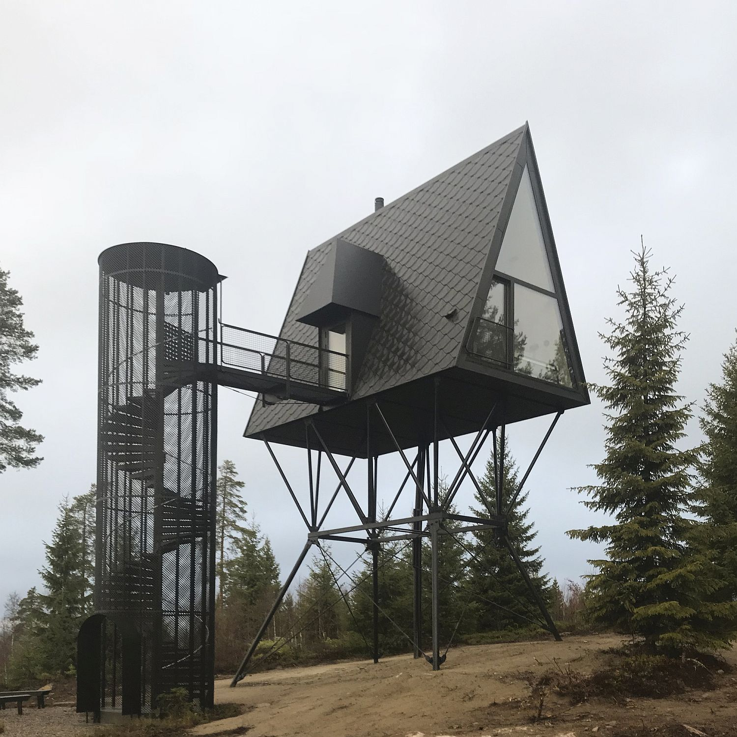 Classy And Reclusive Cabins On Stilts Take You Into A