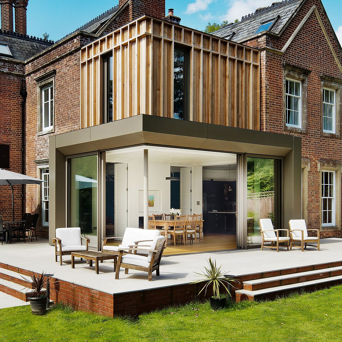 Traditional British Home In Brick Gets Fabulous Modern