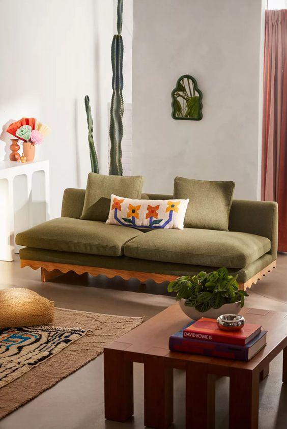 Roma Sofa Earth Tones Decor Urban Outfitters