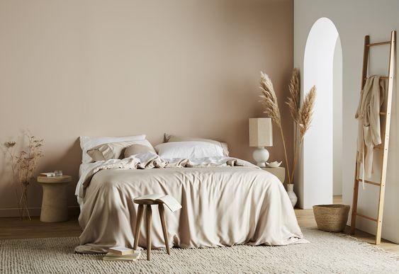 Tan Beige Earth Tone Bedroom