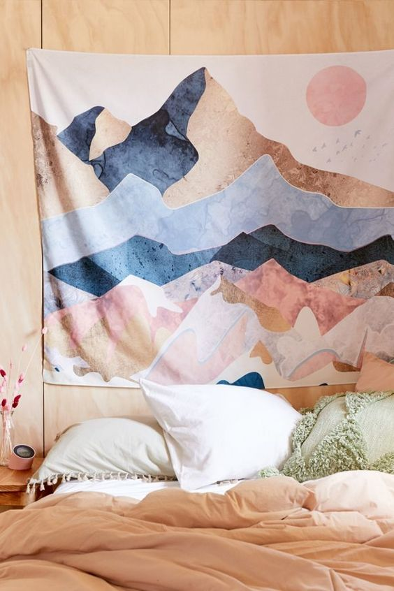 Mountain Tapestry Earth Art Urban Outfitters