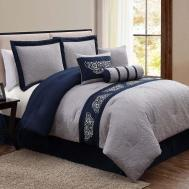 100 Bedroom Navy Blue Chevron Bedding