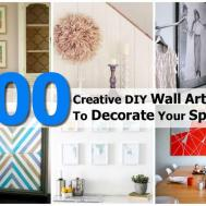 100 Creative Diy Wall Art Ideas Decorate Your Space