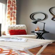 100 Orange Accent Wall Bedroom Contrast Way