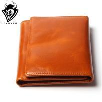 100 Women Genuine Leather Wallet Oil Wax Cowhide Purse