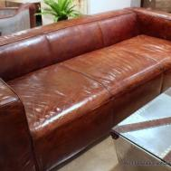 102 Sofa Vintage Cigar Brown Soft Italian Leather