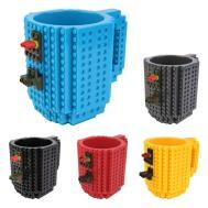 2016 Creative Diy Build Brick Mug Lego Style Puzzle Cup