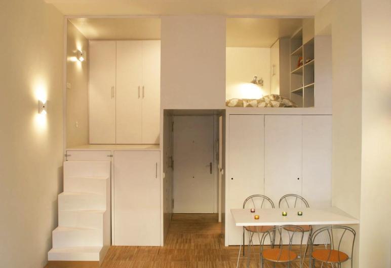 300 Square Foot Micro Studio Loft Apartment Space